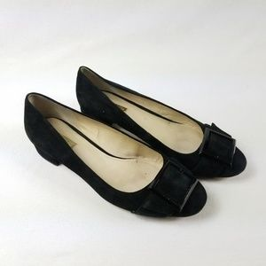 Louise et Cie Suede Round Toe with Buckle Detail